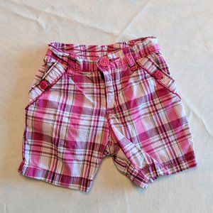 Girl's 12-18 Months Pink Plaid Shorts